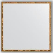Зеркало настенное 67х67 см в багетной раме - золотой бамбук 24 мм.