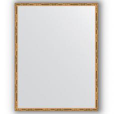 Зеркало настенное 67х87 см в багетной раме - золотой бамбук 24 мм.