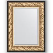 Зеркало настенное 60х80 см в багетной раме - барокко золото 106 мм.