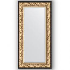 Зеркало настенное 60х120 см в багетной раме - барокко золото 106 мм.