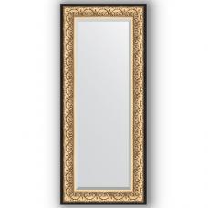 Зеркало настенное 60х140 см в багетной раме - барокко золото 106 мм.