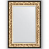 Зеркало настенное 70х100 см в багетной раме - барокко золото 106 мм.