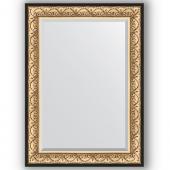 Зеркало настенное 80х110 см в багетной раме - барокко золото 106 мм.