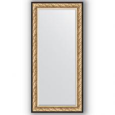 Зеркало настенное 80х170 см в багетной раме - барокко золото 106 мм.