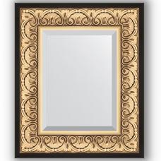 Зеркало настенное 50х60 см в багетной раме - барокко золото 106 мм.