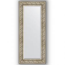 Зеркало настенное 60х140 см в багетной раме - барокко серебро 106 мм.
