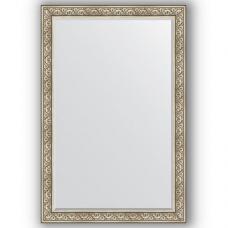Зеркало настенное 120х180 см в багетной раме - барокко серебро 106 мм.