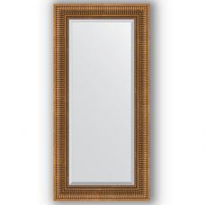 Зеркало настенное 57х117 см в багетной раме - бронзовый акведук 93 мм.