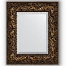 Зеркало настенное 49х59 см в багетной раме - византия бронза 99 мм.