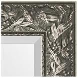 Зеркала в багете – византия серебро 99 мм.