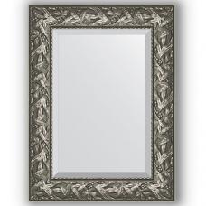 Зеркало настенное 59х79 см в багетной раме - византия серебро 99 мм.