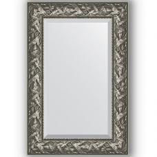 Зеркало настенное 59х89 см в багетной раме - византия серебро 99 мм.