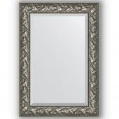 Зеркало настенное 69х99 см в багетной раме - византия серебро 99 мм.