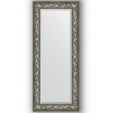 Зеркало настенное 59х139 см в багетной раме - византия серебро 99 мм.