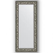 Зеркало настенное 64х149 см в багетной раме - византия серебро 99 мм.