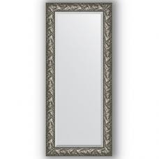 Зеркало настенное 69х159 см в багетной раме - византия серебро 99 мм.