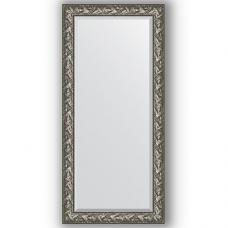 Зеркало настенное 79х169 см в багетной раме - византия серебро 99 мм.