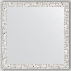 Зеркало настенное 61х61 см в багетной раме - чеканка белая 46 мм.