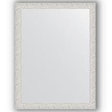 Зеркало настенное 61х81 см в багетной раме - чеканка белая 46 мм.
