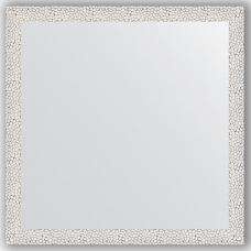 Зеркало настенное 71х71 см в багетной раме - чеканка белая 46 мм.