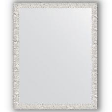 Зеркало настенное 71х91 см в багетной раме - чеканка белая 46 мм.