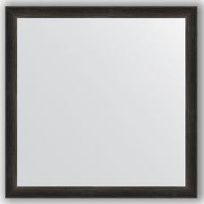 Зеркало настенное 60х60 см в багетной раме - черный дуб 37 мм.