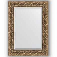 Зеркало настенное 56х76 см в багетной раме - фреска 84 мм.