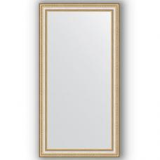 Зеркало настенное 55х105 см в багетной раме - золотые бусы на серебре 60 мм.