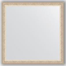 Зеркало настенное 61х61 см в багетной раме - мельхиор 41 мм.
