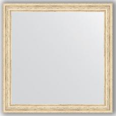 Зеркало настенное 63х63 см в багетной раме - слоновая кость 51 мм.