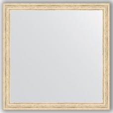 Зеркало настенное 73х73 см в багетной раме - слоновая кость 51 мм.