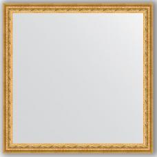 Зеркало настенное 72х72 см в багетной раме - сусальное золото 47 мм.