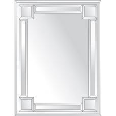Зеркало с зеркальным обрамлением (серебро) 60х80 см. Серия V-2.
