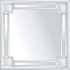 Зеркало с зеркальным обрамлением (серебро) 70х70 см. Серия V-2.