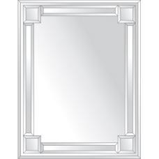 Зеркало с зеркальным обрамлением (серебро) 70х90 см. Серия V-2.