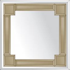 Зеркало с зеркальным обрамлением (бронза) 60х60 см. Серия V-2.