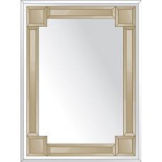 Зеркало с зеркальным обрамлением (бронза) 60х80 см. Серия V-2.