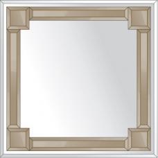Зеркало с зеркальным обрамлением (бронза) 70х70 см. Серия V-2.