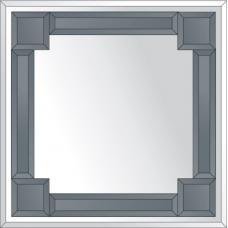 Зеркало с зеркальным обрамлением (графит) 60х60 см. Серия V-2.