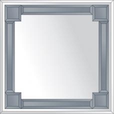 Зеркало с зеркальным обрамлением (графит) 70х70 см. Серия V-2.