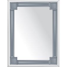 Зеркало с зеркальным обрамлением (графит) 70х90 см. Серия V-2.