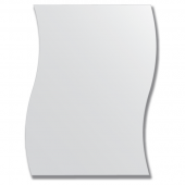 Зеркало настенное 50х65 см - волна.