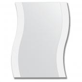Зеркало настенное с рисунком 50х65 см - волна.