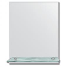 Зеркало настенное с полочкой (40х50 см). Прямоугольное, с фацетом 5 мм.