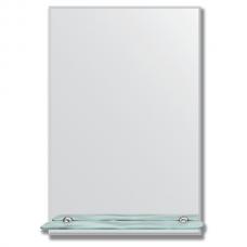 Зеркало настенное с полочкой (40х60 см). Прямоугольное, с фацетом 5 мм.