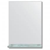 Зеркало настенное с полочкой (50х70 см). Прямоугольное, с фацетом 5 мм.
