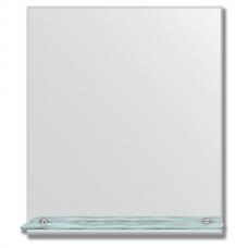 Зеркало настенное с полочкой (60х70 см). Прямоугольное, с фацетом 5 мм.