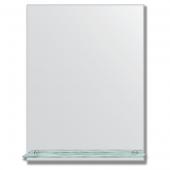 Зеркало настенное с полочкой (60х80 см). Прямоугольное, с фацетом 5 мм.