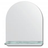 Зеркало настенное с полочкой (50х60 см). Форма арки, шлифованная кромка.