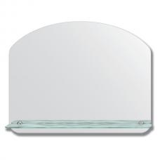 Зеркало настенное с полочкой (70х55 см). Форма арки, шлифованная кромка.